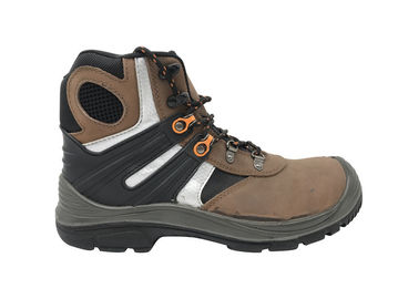 China Breathable Camel High Cut Work Boots , Waterproof Steel Toe Boots For Wide Feet supplier