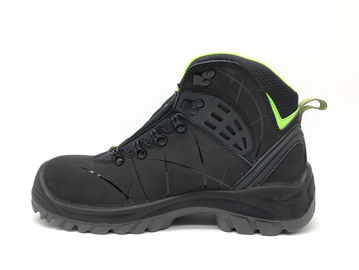 China Lightweight Steel Toe Work Boots / Slip Resistant Work Boots For Outdoor Worker supplier