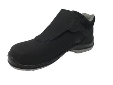 China Latest Trend Leather Safety Shoes Breathable Soft Insole With Velcro Tape supplier