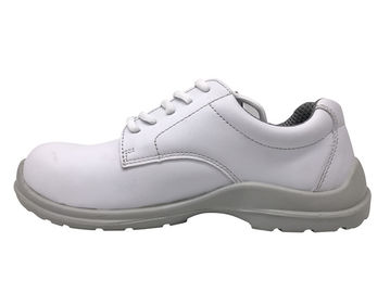 China Pure White Upper Ladies Safety Shoes Anti Smash With Raw Eyelet CE Approved supplier