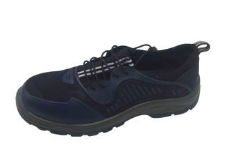 China Elastic Band Comfortable Steel Toe Safety Shoes For Care Worker Easy Cleaning supplier