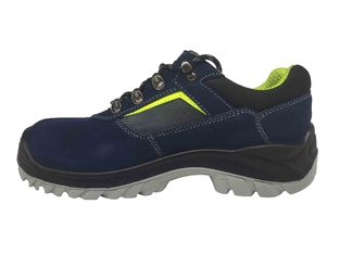 China Corrosion Resistant Steel Toe Work Shoes Electrical Isolation Royal Blue Color supplier