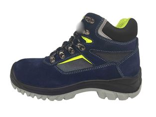 China Composite Plate Steel Toe Work Boots Suede Leather Overlay For Workshop supplier