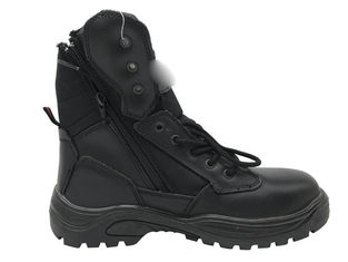 China Anti Static Ankle Support Work Boots Deep Zipper Design For Industrial Work supplier