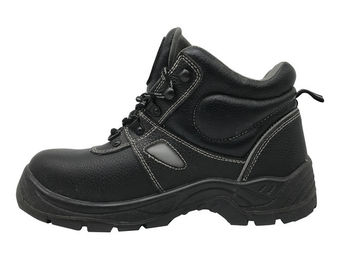 China Barton Leather Oil Resistant Work Shoes , Black Non Slip Work Shoes For Operator distributor