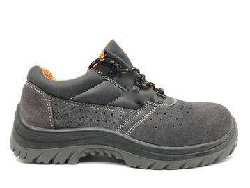 China High Bursting Strength Sport Safety Shoes Torsion Resistant With Butt Leather distributor