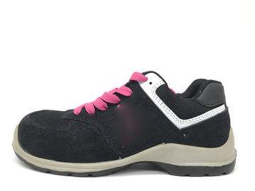 China Comfortable Women Safety Shoes Water Resistant Lightweight Without Metal Eyelet distributor