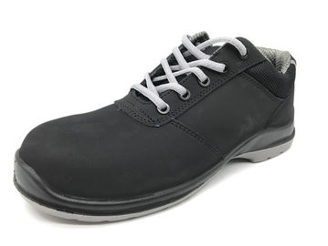 China Black Non Slip Work Shoes Water Resistant Mens Formal Safety Shoes Outdoor Application distributor