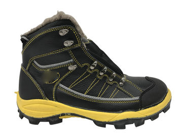 China Custom Size Waterproof Safety Boots Latest Style With Artificial Wool distributor