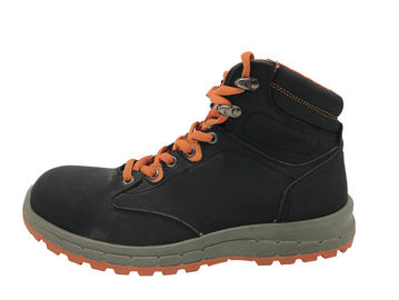 China Black High Cut Safety Boots , Comfortable Steel Toe Work Boots For Industry distributor