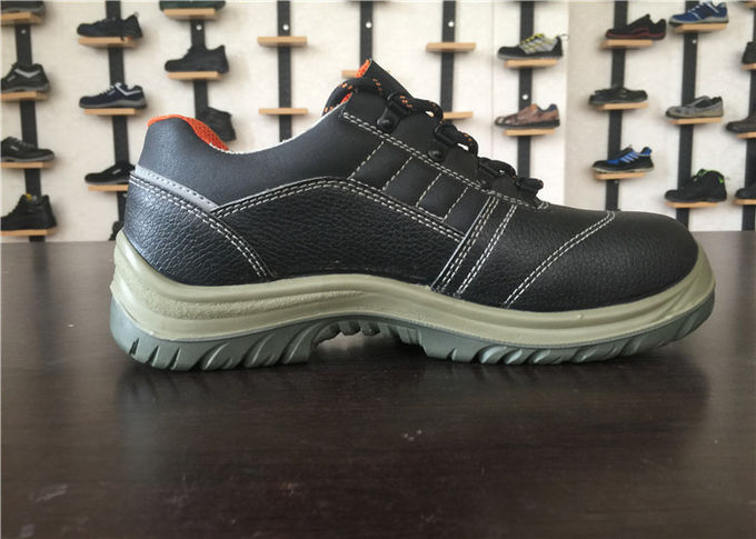 Artificial Leather Slip Resistant Safety Shoes High Stability Size Custom For Executive