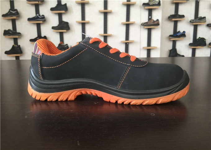 Bright Color Nubuck Work Shoes / Lace Up Work Shoes For Spring OEM ODM Available