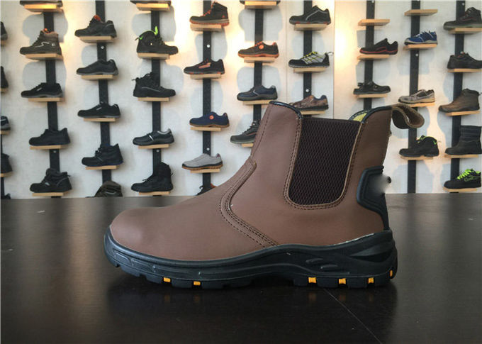 High Cut Slip On Chelsea Boots , Steel Toe Safety Boots Water Resistant